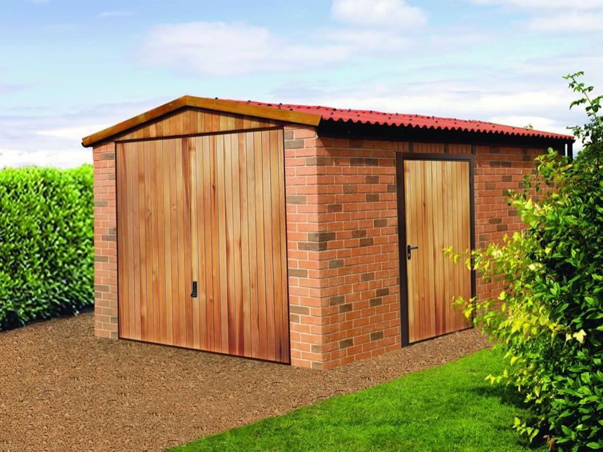 Vertical Cedar Wood Garage Side Door