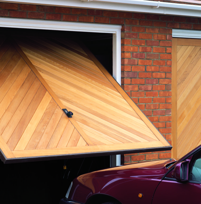 wood-timber-chevron-garage-door