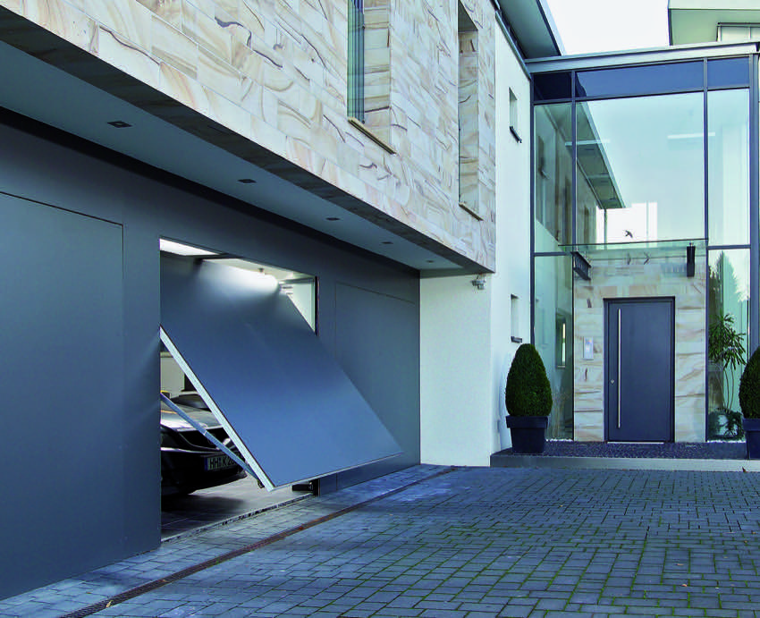 contemporary-overhead-garage-door